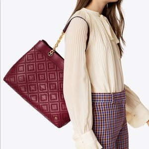 NWT Tory Burch Fleming Triple Compartment Tote